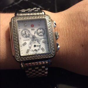Accessories - SOLD Michele diamond deco watch